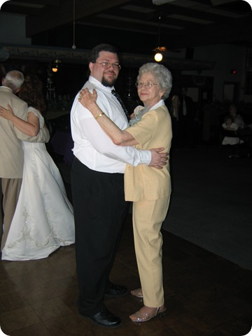 Mom and me dancing in 2006